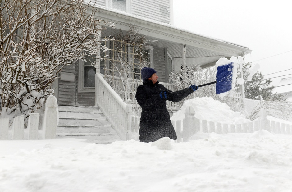 Buy shovels to get rid of snow