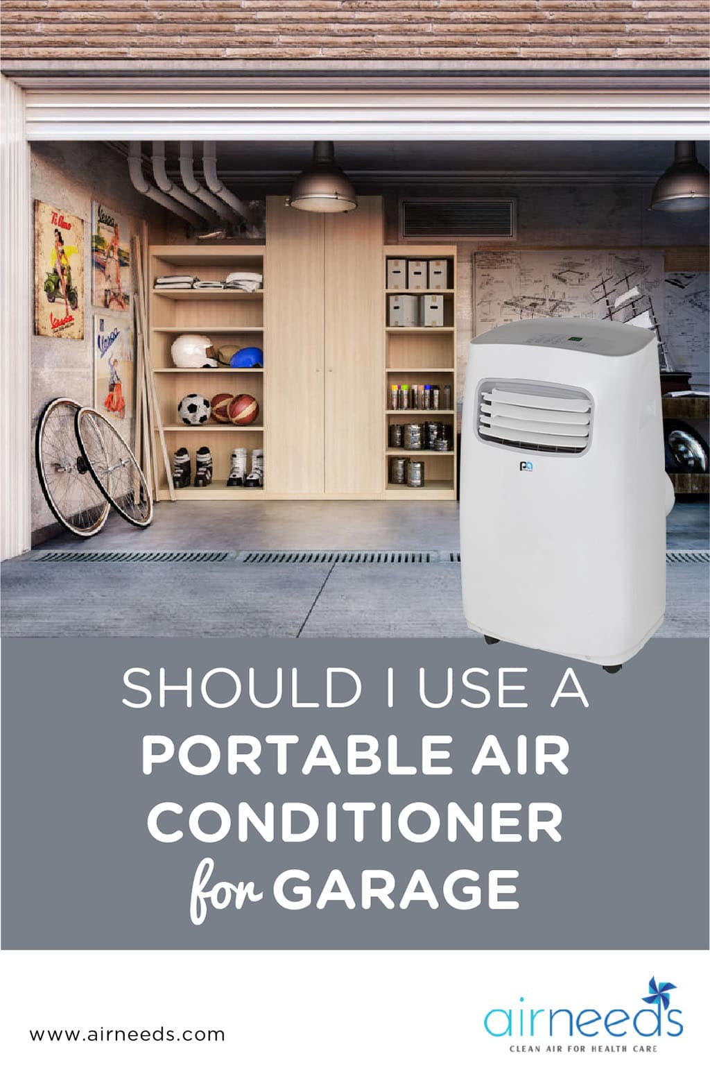 Should I Use a Portable Air Conditioner for Garage - AirNeeds