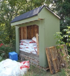 How to store Wood Pellets outside