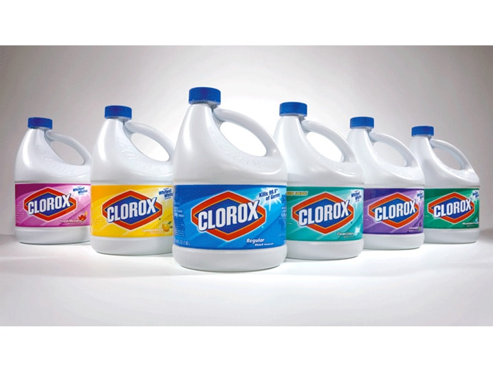 Household bleach solution