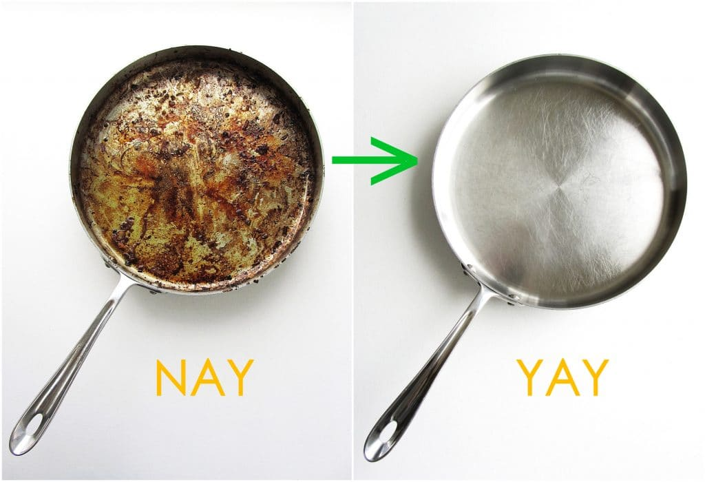 How to clean the stainless cookware properly