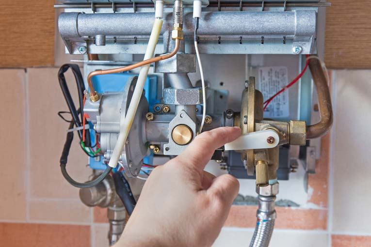 Turn off the power source for the tankless water heater