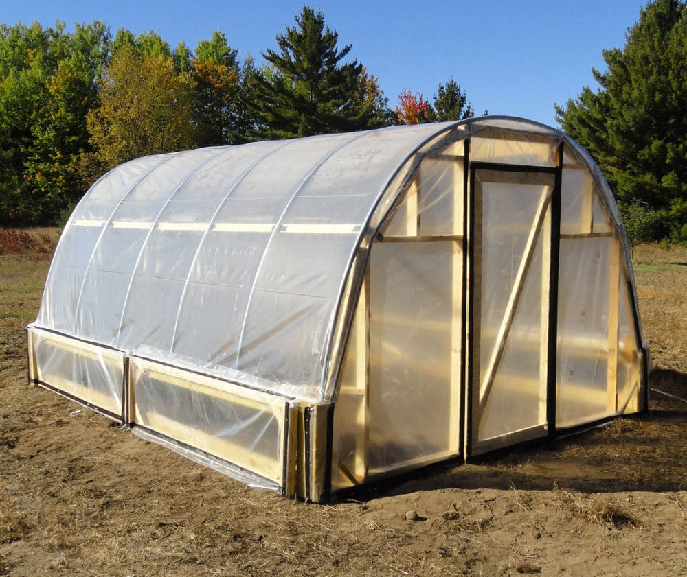 Attach slide joints to the hoop house frame